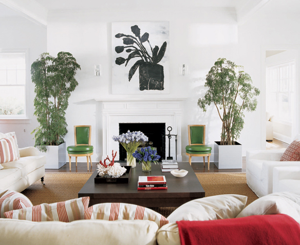 Pamplemousse design inc a family estate in - Green living room ideas in east hampton new york ...